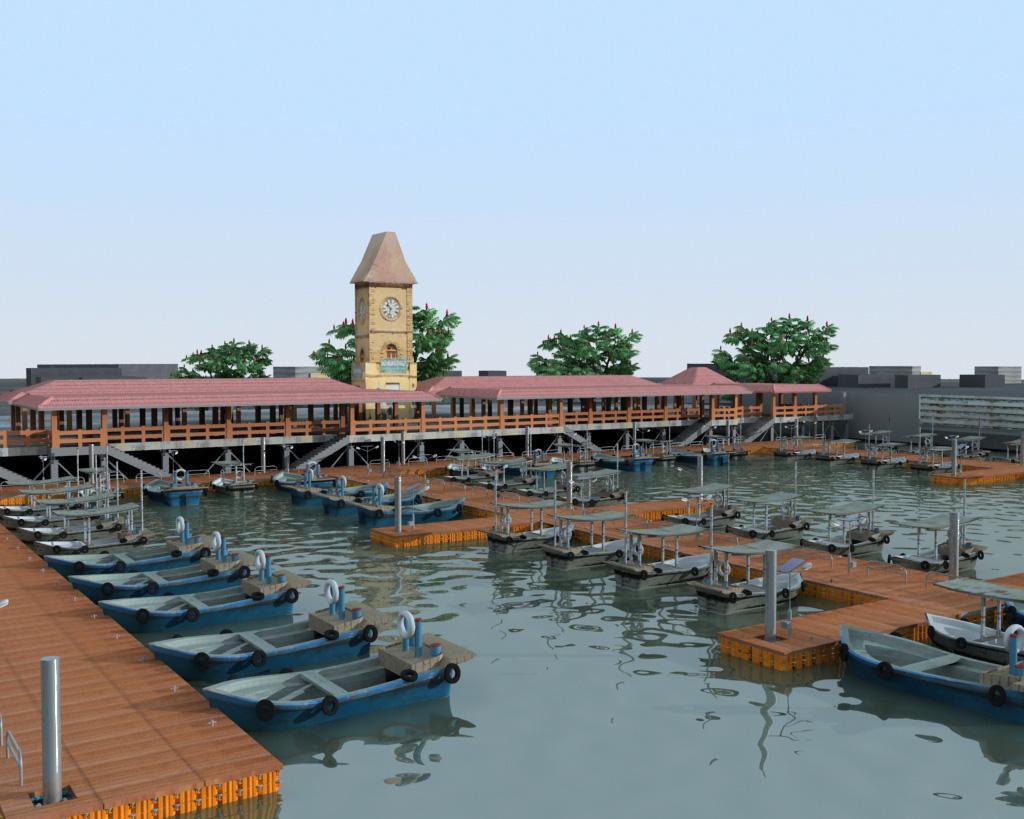 muelles modulares colombia Marina render exceldock