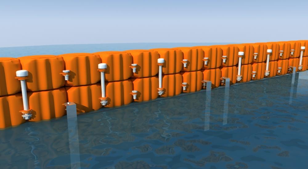barrera proteccion flotante