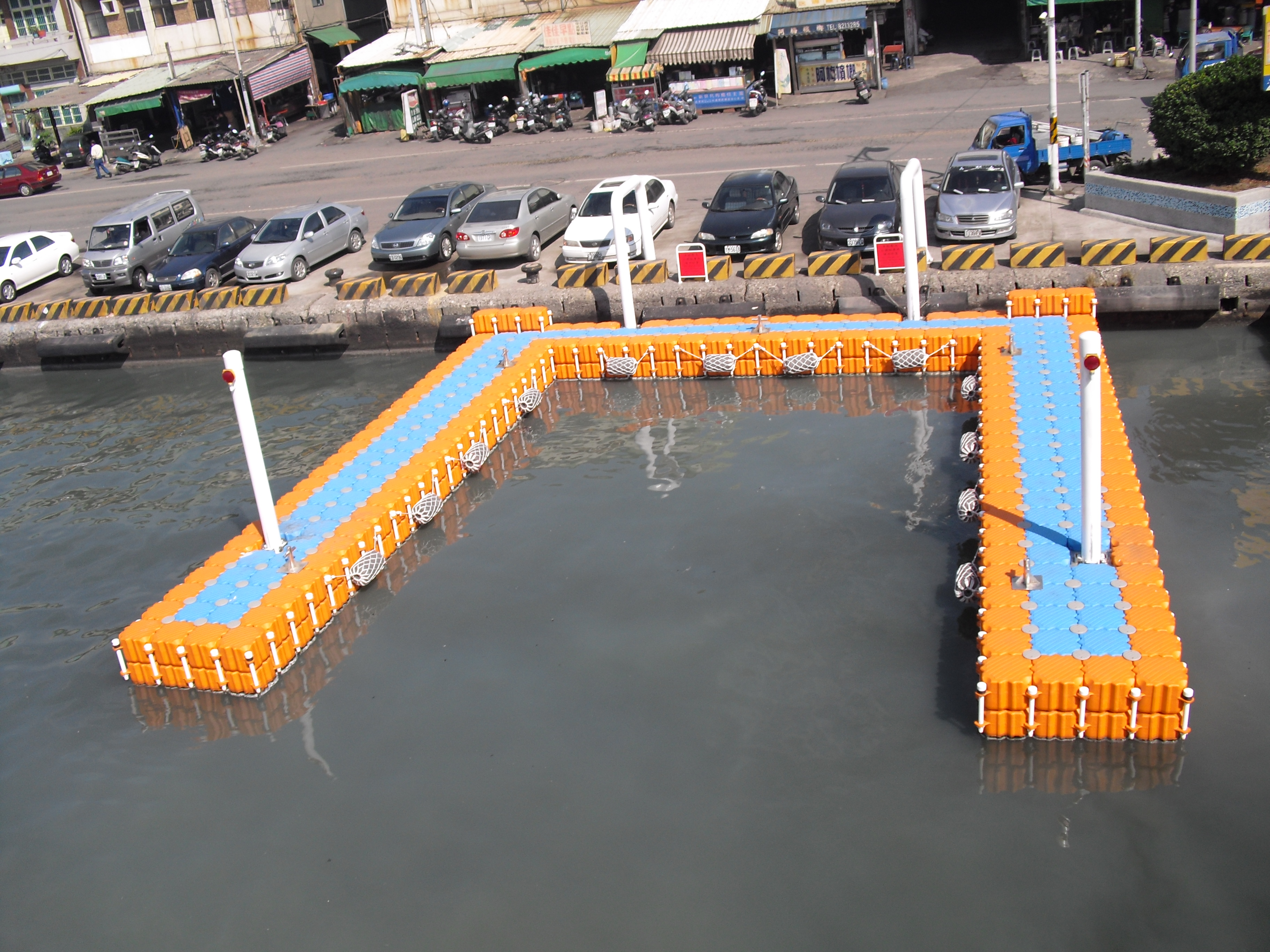 Muelles flotantes modulares embarcadero