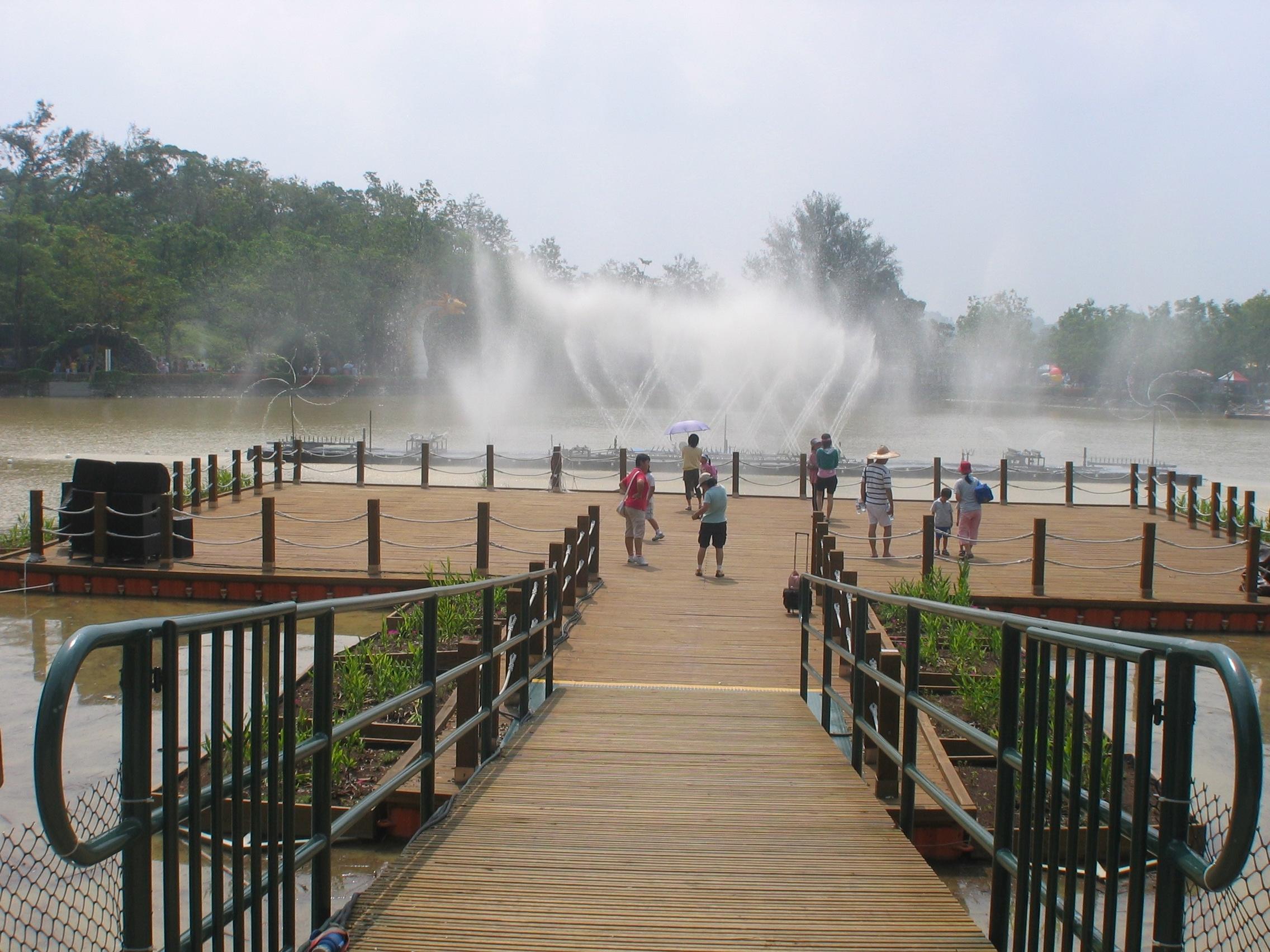 Muelles flotantes modulares parque recreativo
