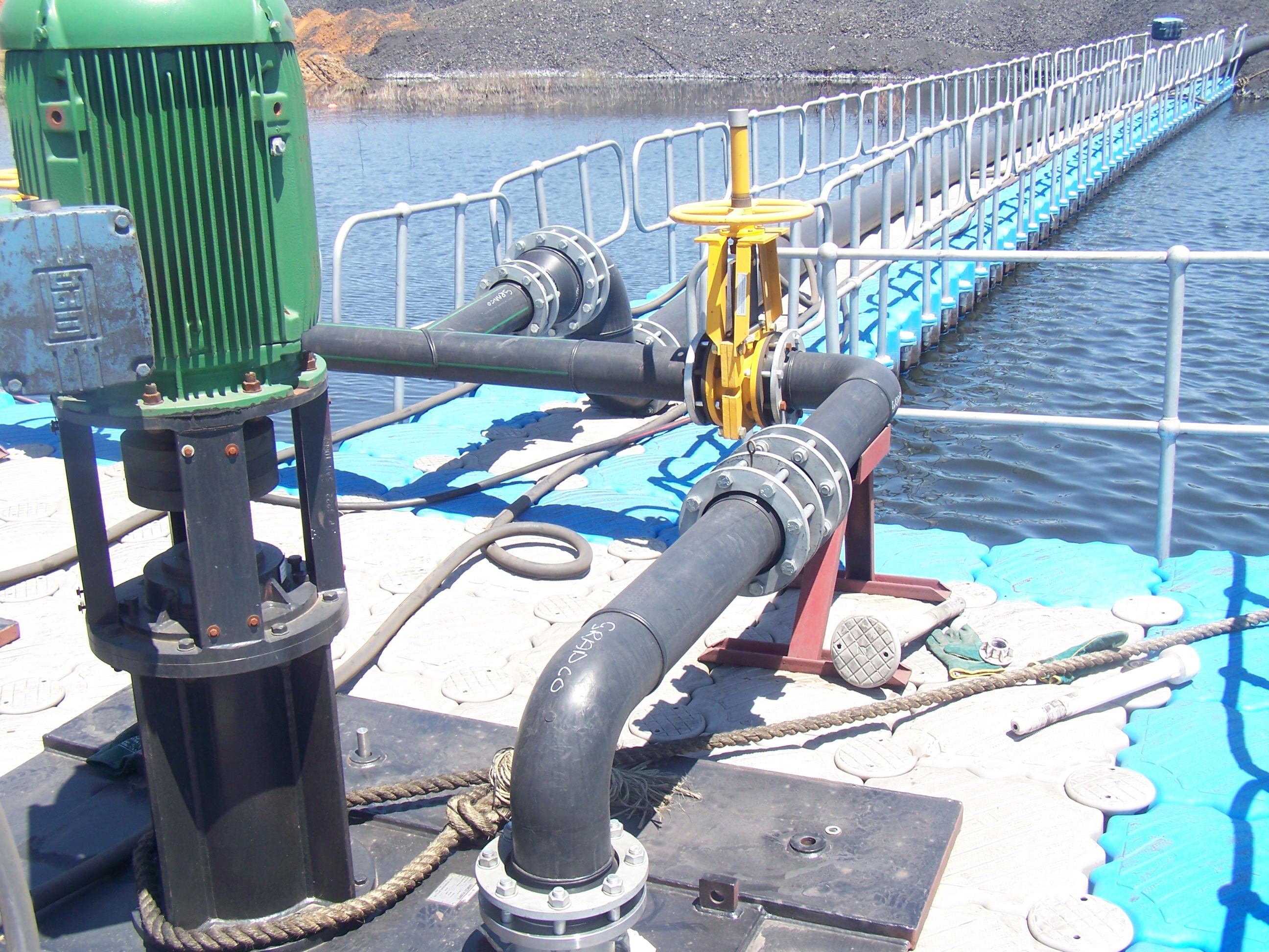 plataforma flotante industrial tuberias