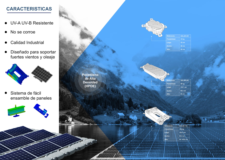 caracteristicas-sistema-solar-flotante-exceldock-fotovoltaico