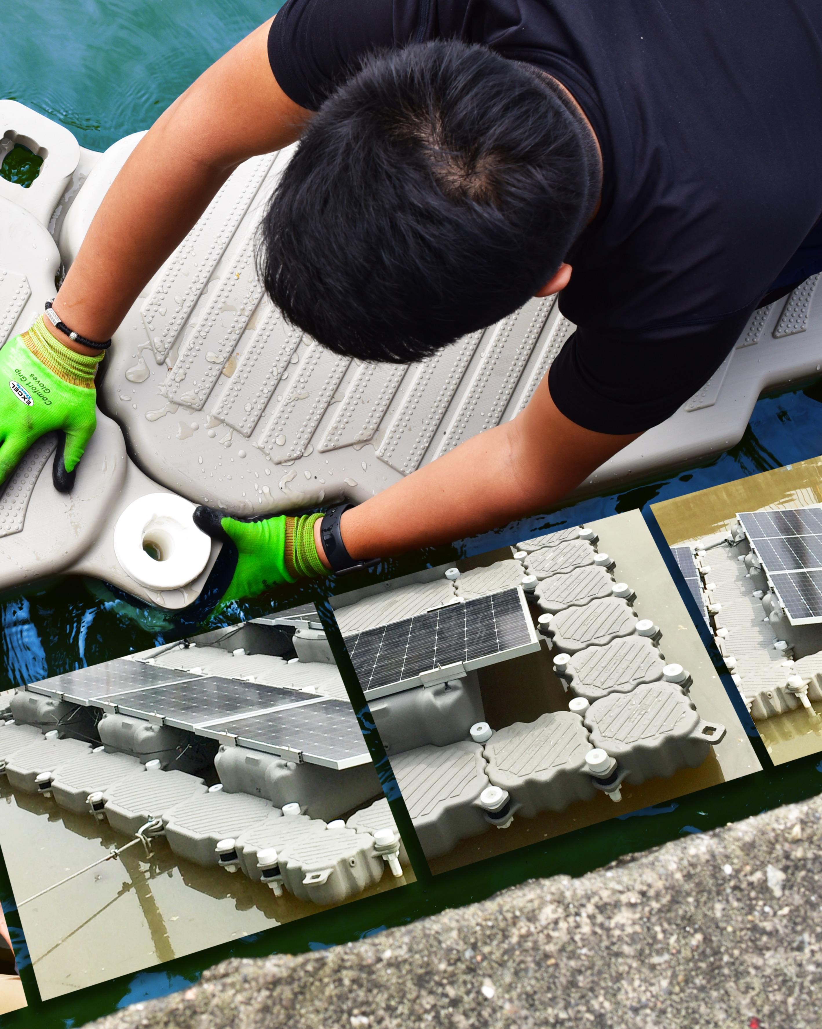 energia-solar-flotante-exceldock-instalacion