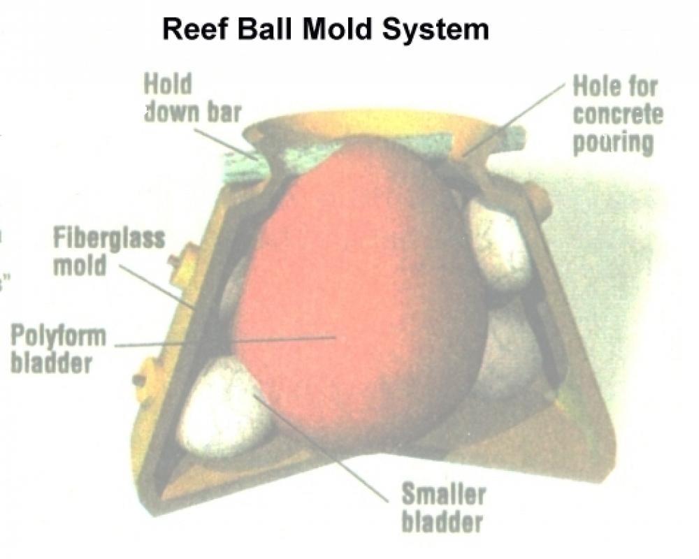 Molde reef ball